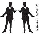 vector business man silhouette | Shutterstock .eps vector #106506335