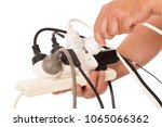 unsafe use of double adaptor to ...   Shutterstock . vector #1065066362