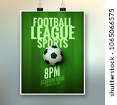 soccer league flyer design... | Shutterstock .eps vector #1065066575
