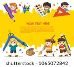 back to school. happy school... | Shutterstock .eps vector #1065072842