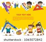 back to school. happy school... | Shutterstock .eps vector #1065072842