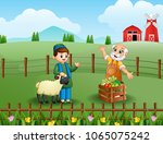 muslim farmers are talking... | Shutterstock .eps vector #1065075242