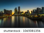 clear calm dawn melbourne city... | Shutterstock . vector #1065081356