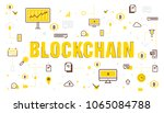 blockchain icon vector... | Shutterstock .eps vector #1065084788