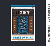 just hype typography tee shirt... | Shutterstock .eps vector #1065085685