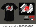 t shirt design japan team...   Shutterstock .eps vector #1065086285