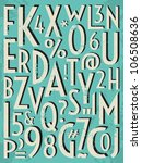 a set of letters and numbers in ... | Shutterstock . vector #106508636
