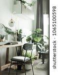 working corner in apartment... | Shutterstock . vector #1065100598