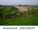 historical temple on a hill.... | Shutterstock . vector #1065108245