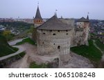 historical temple on a hill.... | Shutterstock . vector #1065108248