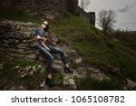 portrait of a beautiful ... | Shutterstock . vector #1065108782