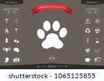 paw icon symbol | Shutterstock .eps vector #1065125855
