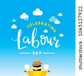 happy labour day poster ... | Shutterstock .eps vector #1065127922