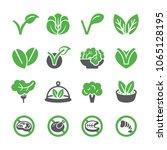 vegan icon set | Shutterstock .eps vector #1065128195