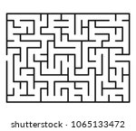 abstract maze   labyrinth with... | Shutterstock .eps vector #1065133472