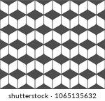 seamless pattern of rhombuses.... | Shutterstock .eps vector #1065135632