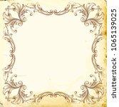 retro baroque decorations...   Shutterstock .eps vector #1065139025