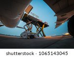 loading cargo outside cargo... | Shutterstock . vector #1065143045