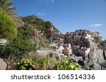 manarola   one of the cities of ... | Shutterstock . vector #106514336