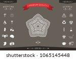 geometric oriental arabic... | Shutterstock .eps vector #1065145448