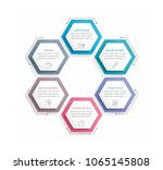 infographic template with six... | Shutterstock .eps vector #1065145808