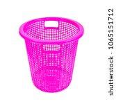 plastic basket isolated on...   Shutterstock . vector #1065151712