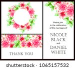 vintage delicate invitation... | Shutterstock .eps vector #1065157532