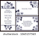 vintage delicate invitation... | Shutterstock .eps vector #1065157565