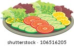 plate with vegetables. vector | Shutterstock .eps vector #106516205