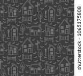 line village houses... | Shutterstock .eps vector #1065175808