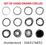 circle scribble sketch set of... | Shutterstock .eps vector #1065176852