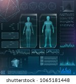 vector interface set. medical...