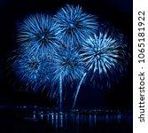 Celebratory Blue Firework In A...