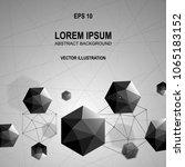 3d modern abstract polygonal... | Shutterstock .eps vector #1065183152
