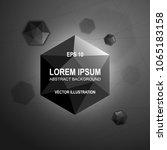black modern abstract polygonal ... | Shutterstock .eps vector #1065183158