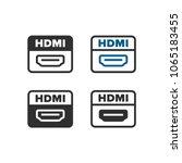hdmi port icon | Shutterstock .eps vector #1065183455
