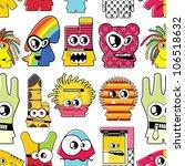 monsters seamless | Shutterstock .eps vector #106518632