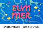 illustration of underwater with ... | Shutterstock .eps vector #1065192938