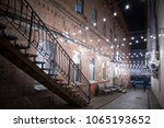 brick buildings on in an old... | Shutterstock . vector #1065193652