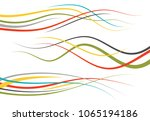 set of abstract color  curved... | Shutterstock .eps vector #1065194186