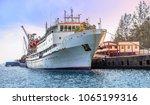 passenger ship at port blair... | Shutterstock . vector #1065199316