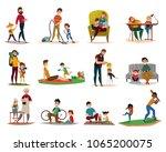 fatherhood raising children ... | Shutterstock .eps vector #1065200075
