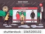 bad weather transportation web... | Shutterstock .eps vector #1065200132