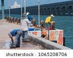 progreso  mexico march 17  2018 ... | Shutterstock . vector #1065208706