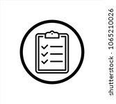 checklist icon in trendy flat... | Shutterstock .eps vector #1065210026