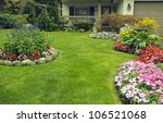 manicured yard.  a beautifully... | Shutterstock . vector #106521068