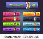 web elements shiny vector... | Shutterstock .eps vector #106521356