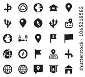 flat vector icon set   compass... | Shutterstock .eps vector #1065218582