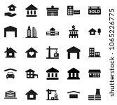 flat vector icon set   house... | Shutterstock .eps vector #1065226775