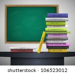 books of different school... | Shutterstock .eps vector #106523012
